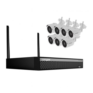 Беспроводной комплект видеонаблюдения wifi на 7 камер 2 МP, HD 1080P (Longse 7Wifi-2MP kit)